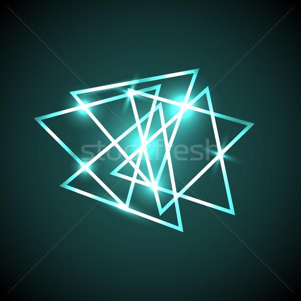 Absztrakt zöld neon stock vektor divat Stock fotó © punsayaporn