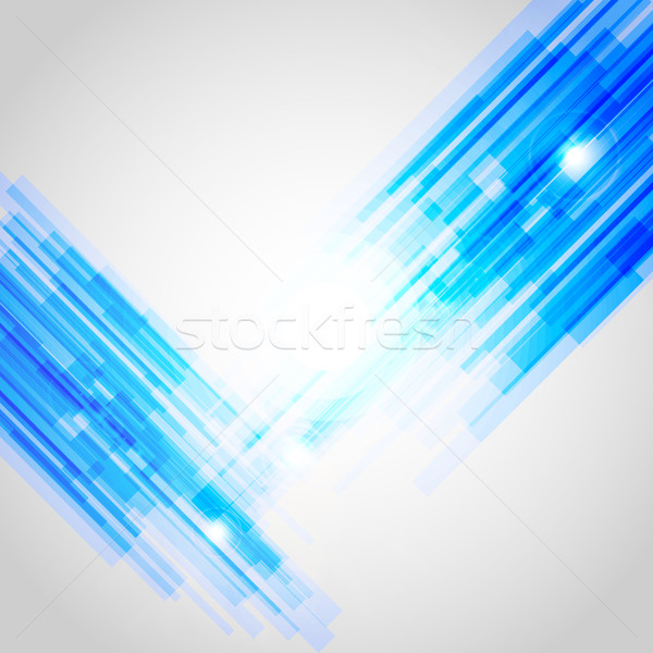 Kék absztrakt egyenes vonalak stock vektor Stock fotó © punsayaporn