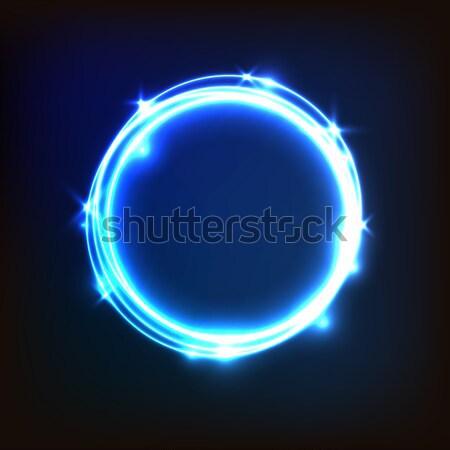 Abstrato azul círculos estoque vetor Foto stock © punsayaporn