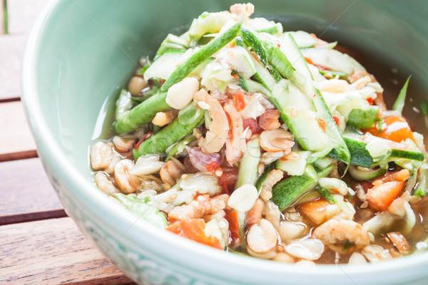 Thai estilo pepino picante salada estoque Foto stock © punsayaporn