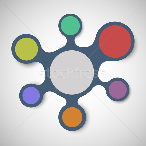Abstract background with integrated metaballs Stock photo © punsayaporn