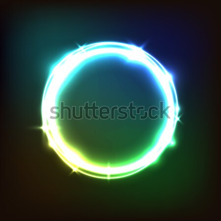 Abstract glowing colorful background with circles Stock photo © punsayaporn