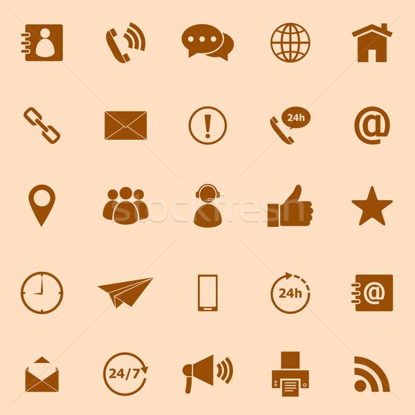 Kleur iconen oranje voorraad vector Stockfoto © punsayaporn