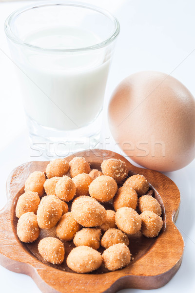 Spicy peanut, low fat milk and fresh egg Stock photo © punsayaporn