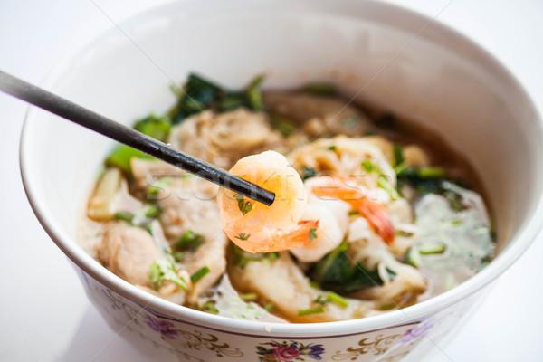 стороны палочки для еды тайский стиль Сток-фото © punsayaporn