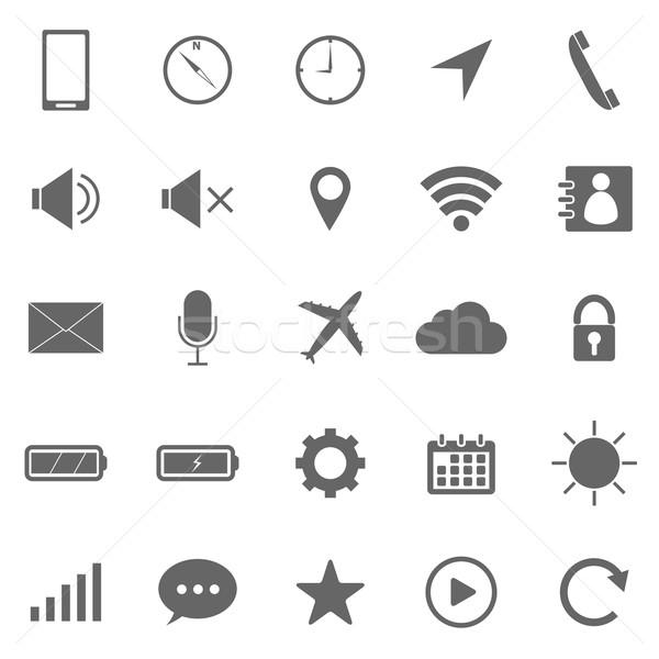 Mobile phone icons on white background Stock photo © punsayaporn