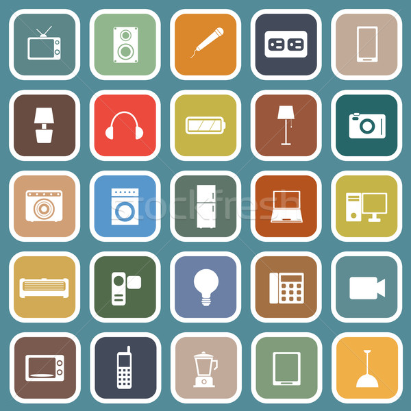 электрические машина иконки синий складе вектора Сток-фото © punsayaporn