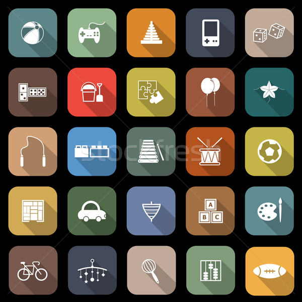 Stock photo: Toy flat icons with long shadow