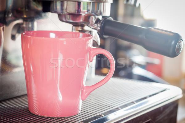 Kávésbögre kávéház stock fotó iroda kávé Stock fotó © punsayaporn