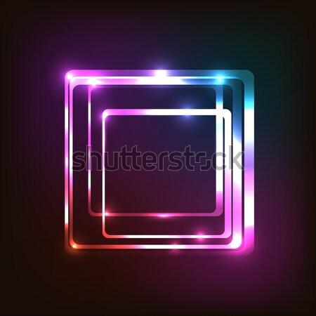 Absztrakt színes izzó téglalap stock vektor Stock fotó © punsayaporn