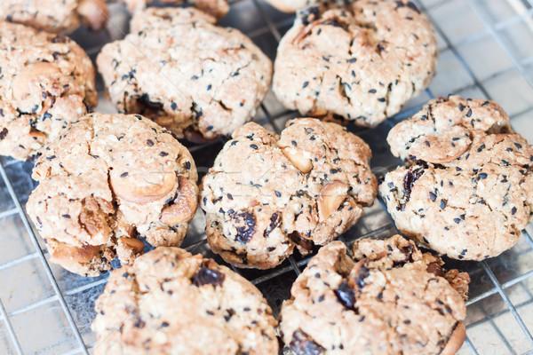 Cereal bolinhos resfriamento cremalheira estoque Foto stock © punsayaporn