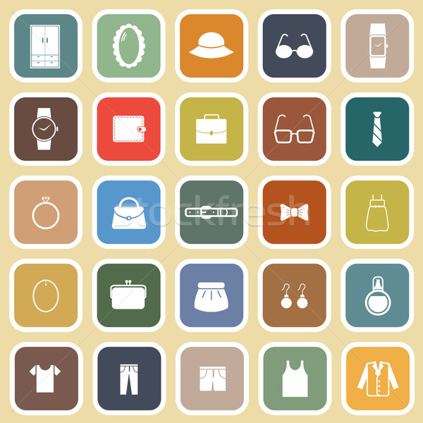 Dressing iconen bruin voorraad vector bril Stockfoto © punsayaporn