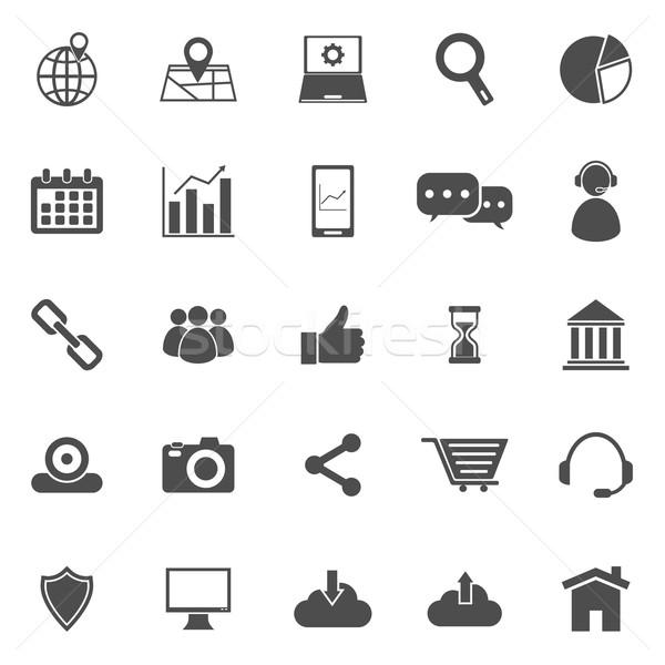 SEO icons on white background Stock photo © punsayaporn