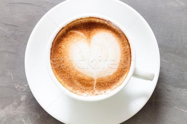 Taza de café gris stock foto alimentos café Foto stock © punsayaporn