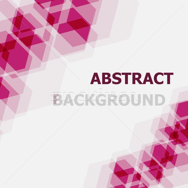 Absztrakt rózsaszín hatszög stock vektor textúra Stock fotó © punsayaporn