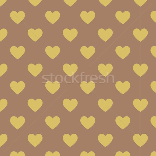 Végtelenített pötty sötét barna minta citromsárga Stock fotó © punsayaporn