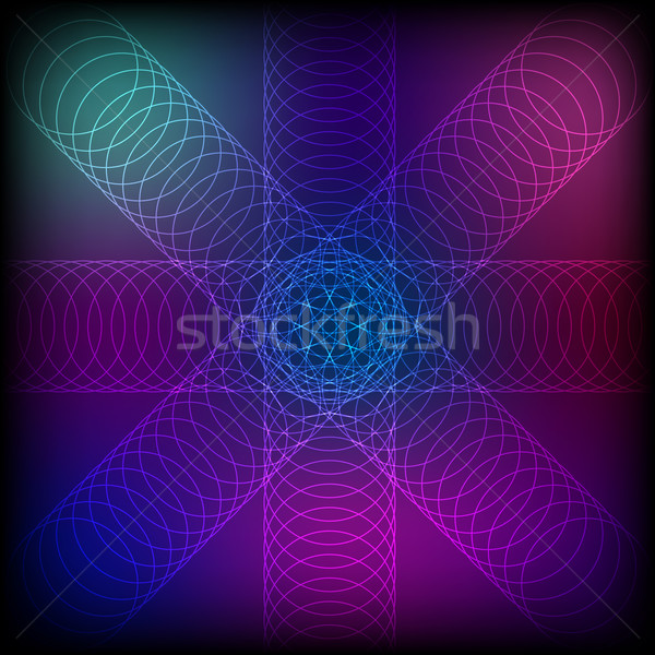 Abstract colorful circle line blend background Stock photo © punsayaporn