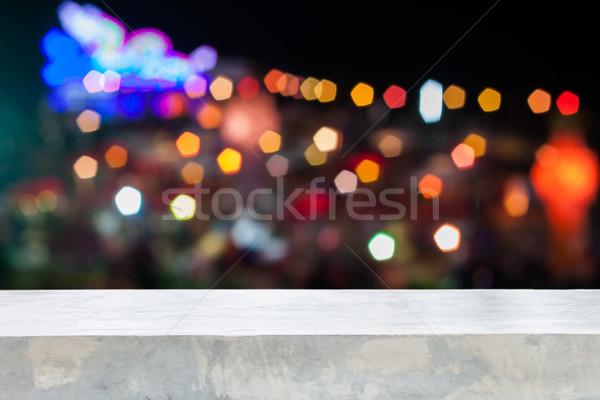 Concretas mesa superior resumen borroso luces Foto stock © punsayaporn