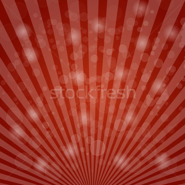 Absztrakt bokeh piros stock vektor fény Stock fotó © punsayaporn