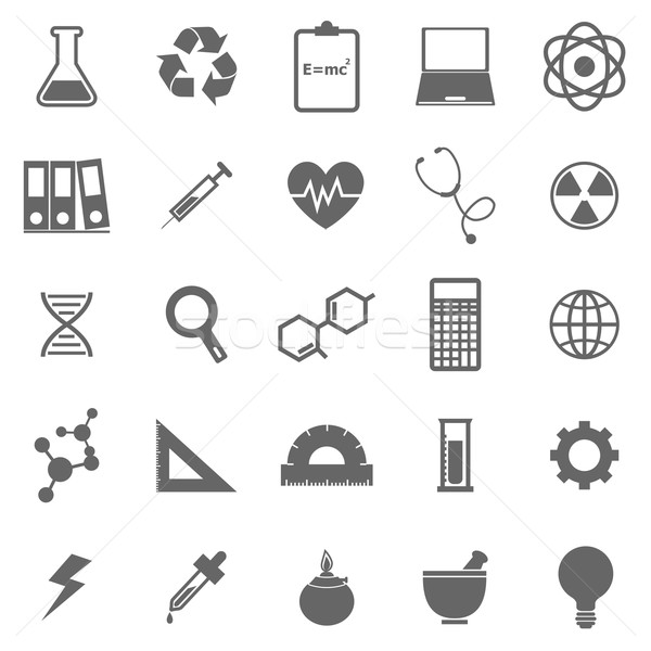 Stock photo: Science icons on white background