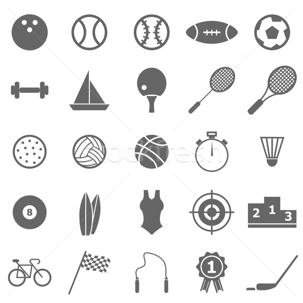Stock photo: Sport icons on white background