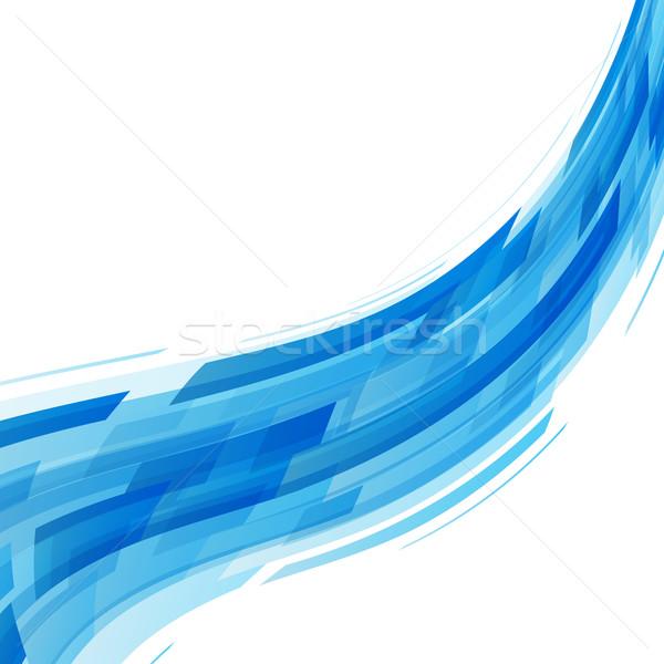 Resumen azul ola tecnología stock vector Foto stock © punsayaporn