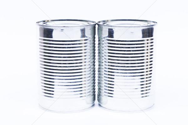 Estanho lata isolado branco estoque Foto stock © punsayaporn