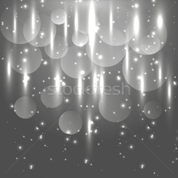 抽象的な 黒白 光 在庫 ベクトル ストックフォト © punsayaporn