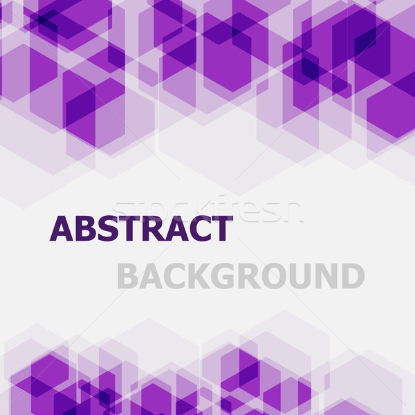 Abstract violet hexagon overlapping background Stock photo © punsayaporn