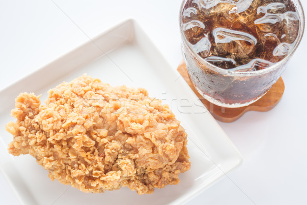 Easy meal set of chicken fried and cola Stock photo © punsayaporn