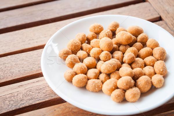 Pinda's snack gekruid poeder textuur Stockfoto © punsayaporn