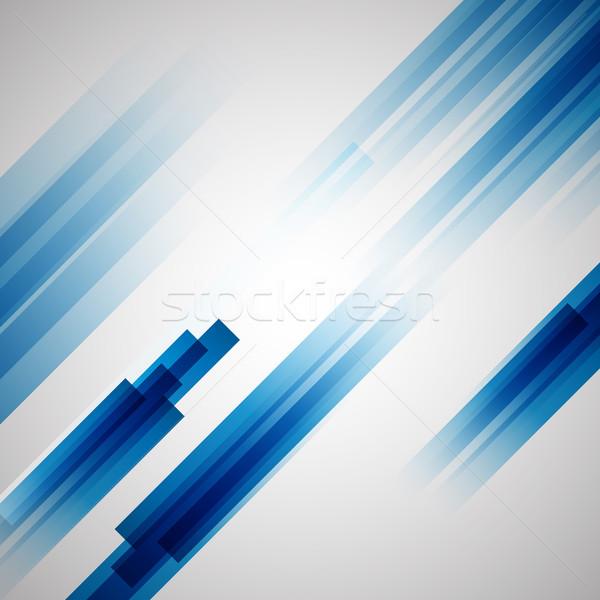 Streszczenie niebieski prosto linie czas wektora Zdjęcia stock © punsayaporn