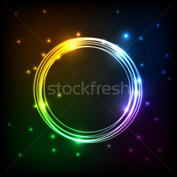 Abstrakten farbenreich Plasma Kreise hat Vektor Stock foto © punsayaporn
