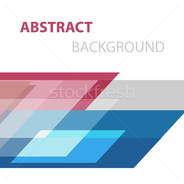 аннотация геометрический складе вектора бизнеса печать Сток-фото © punsayaporn