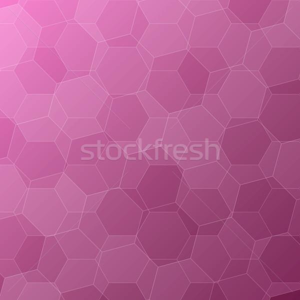 Absztrakt rózsaszín stock vektor technológia háló Stock fotó © punsayaporn
