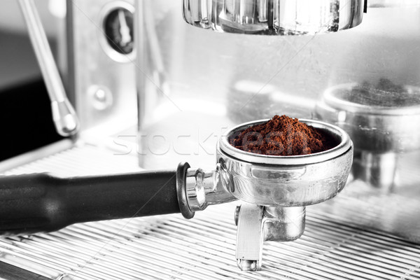 Coffee grind in group with black and white background Stock photo © punsayaporn