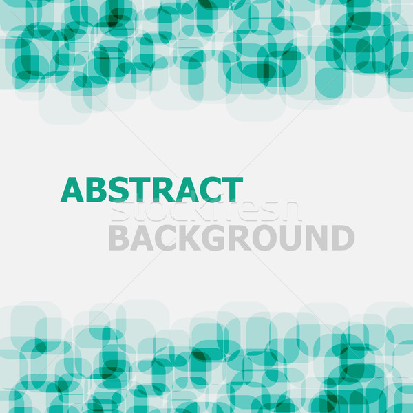 Abstract green rounded rectangle overlapping background Stock photo © punsayaporn