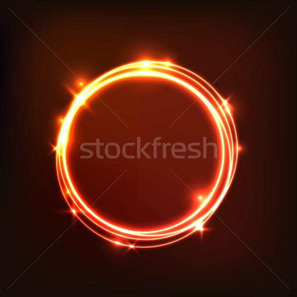 Abstract oranje cirkels voorraad vector Stockfoto © punsayaporn