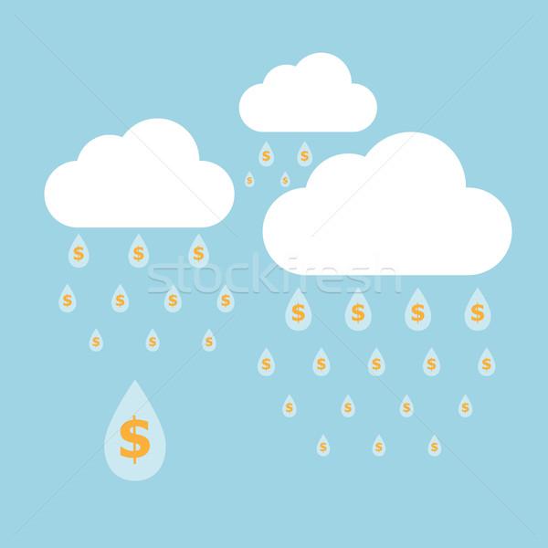 Concept idea of money raining Stock photo © punsayaporn