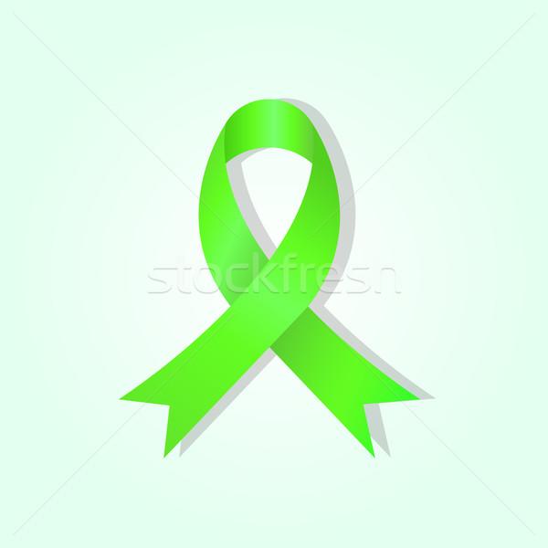зеленый осведомленность лента свечение складе вектора Сток-фото © punsayaporn