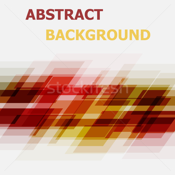 Abstract red and yellow geometric overlapping background Stock photo © punsayaporn