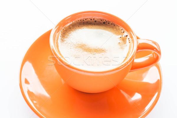 Dobrar café expresso copo isolado branco comida Foto stock © punsayaporn
