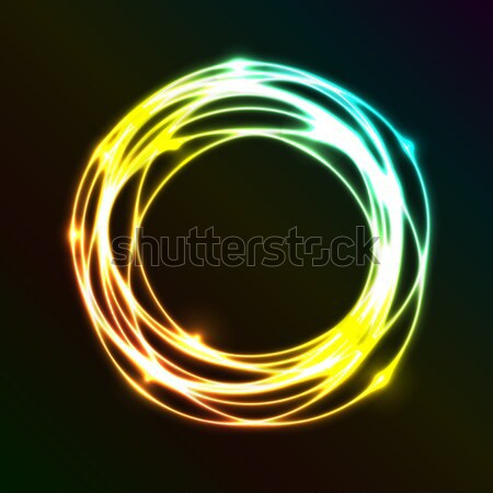 Resumen colorido plasma círculo efecto stock Foto stock © punsayaporn