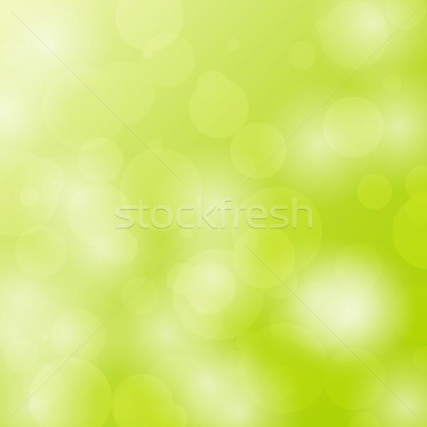 Abstract bokeh cirkels ontwerp groene voorraad Stockfoto © punsayaporn