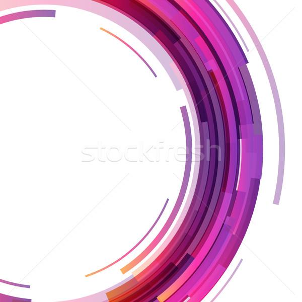 Absztrakt színes technológia körök stock vektor Stock fotó © punsayaporn