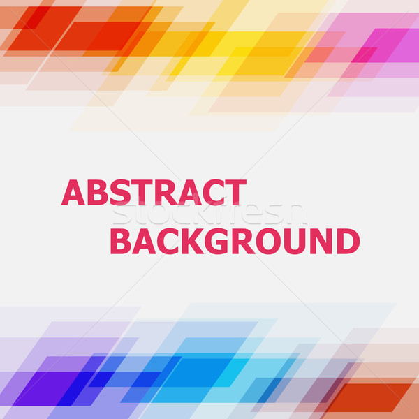 Abstract geometric overlapping colorful background Stock photo © punsayaporn