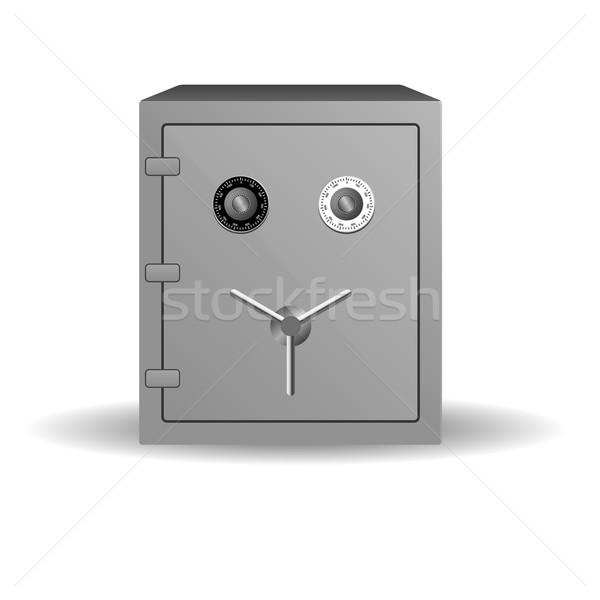 Double lock safe icon isolated on white background Stock photo © punsayaporn