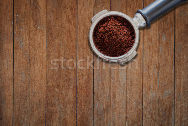 Coffee grind in group on wooden background Stock photo © punsayaporn