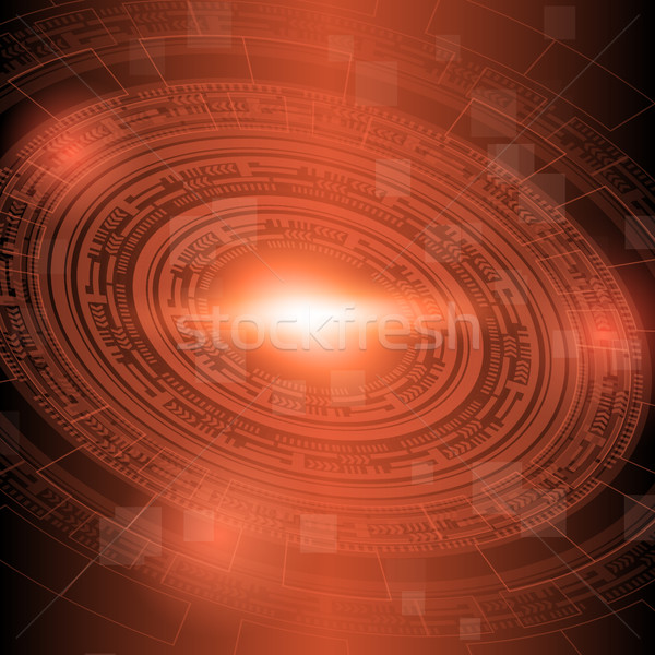 Abstract dark red technology background Stock photo © punsayaporn