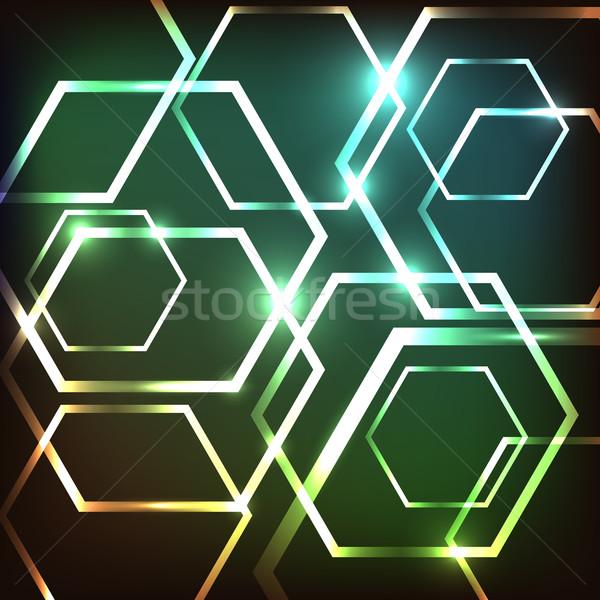 Abstrato colorido néon estoque vetor moda Foto stock © punsayaporn